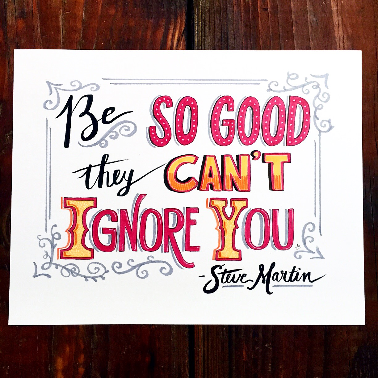 'Be So Good' Copic marker and Brush pen on Bristol paper