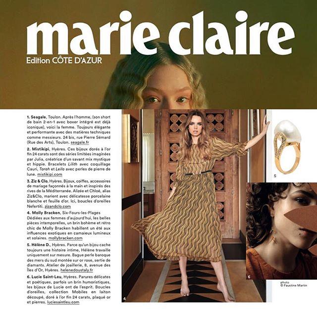 ✨Parution dans le dernier numéro de MARIE CLAIRE Côte d'Azur !  Merci à @marieclairefr @e.outremer @sudnlyofficiel