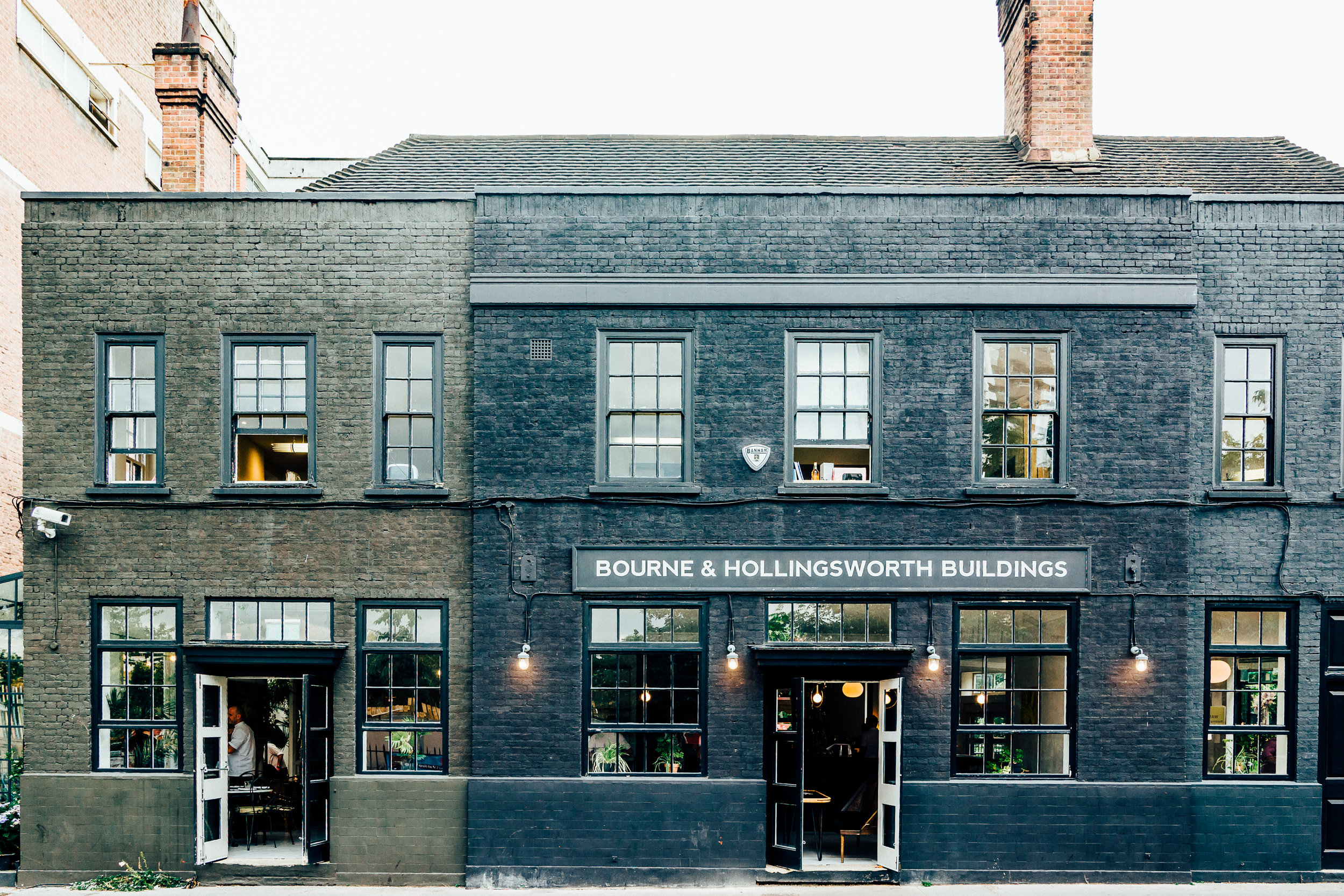 Bourne & Hollingsworth Buildings in Clerkenwell just off Exmouth Market. A restaurant, bar and club all under one roof.