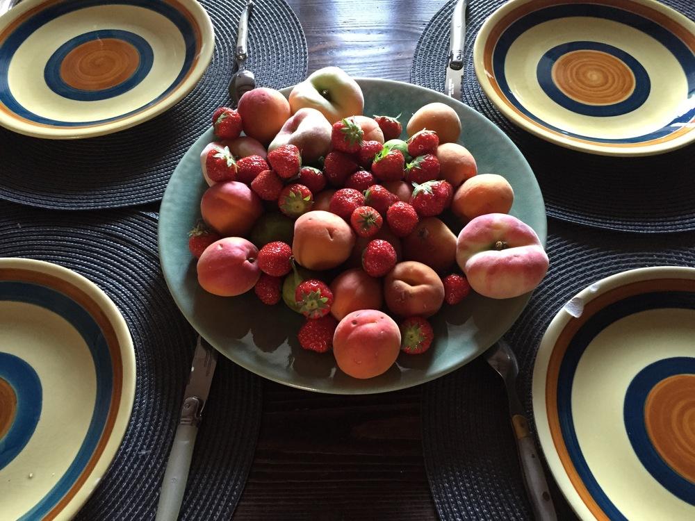Fresh ripe tasty fruits