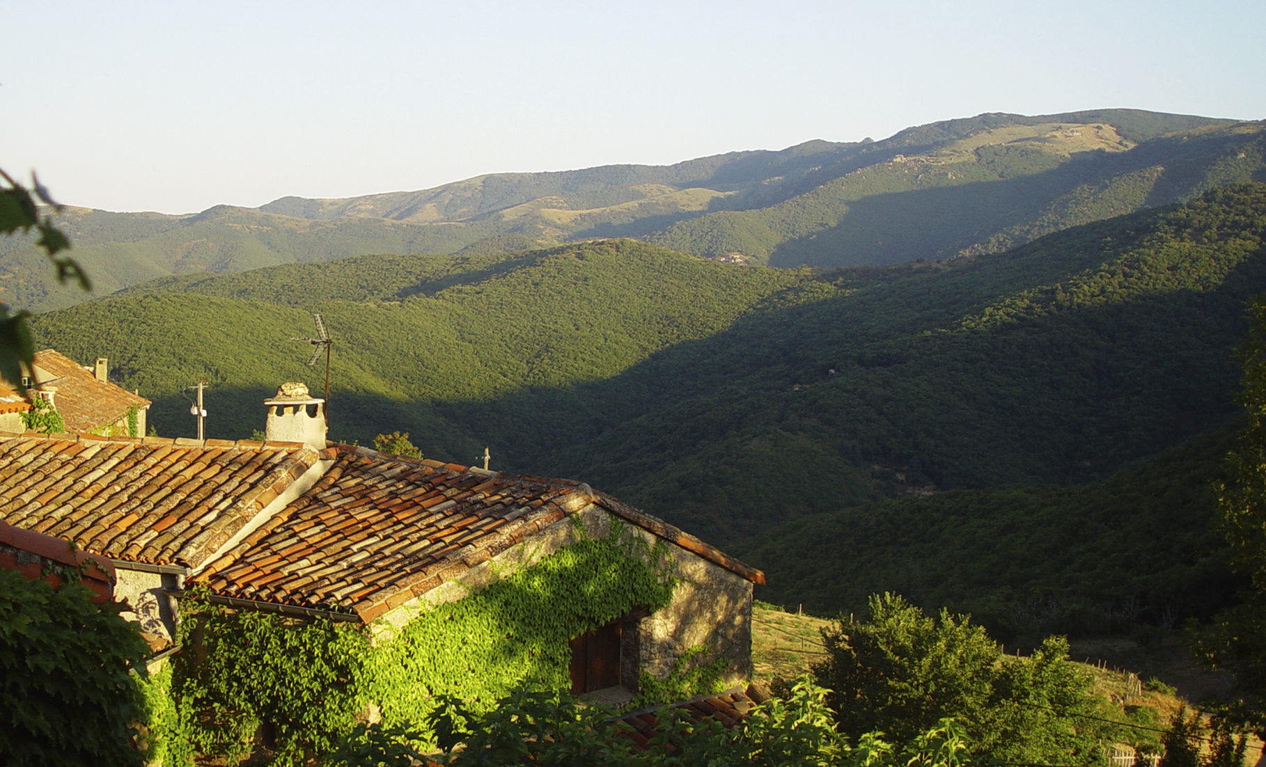 One can see the rolling hills of Les Cevennes Meridionales from everywhere