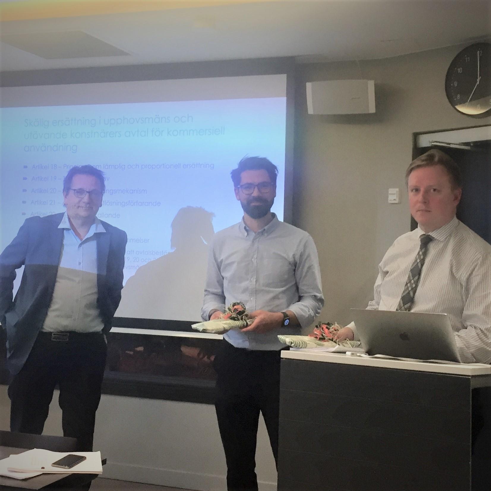 Fra venstre: Ole-Andreas Rognstad, Sebastian Felix Schwemer og Johan Axhamn.