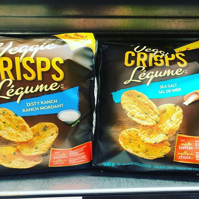 Do you love a little salt and crunch? If so try these veggie chips (No Frills). Sea salt offers a more natural flavour than ranch. Both are very tasty and offer a lower calorie/lower fat option to your typical potato chip.