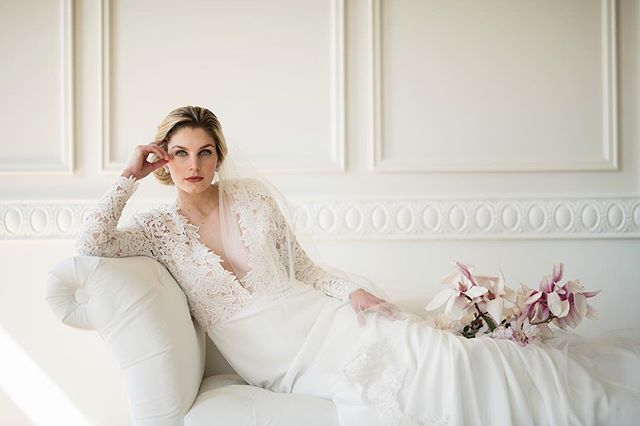 Ethereal beauty . . @ludwigphotography | @queenannesloft | @bridalgardenri | @chandlerflorals | @beautybymarissaprosser | @bridalfinery . . . #details #engaged #wedding #bride #groom #bling #earrings #dress #bridalfinery #bridalfashion #veil #weddinginspo #lifeisinthedetails #events #custom #design #accessories #flowers #weddingseason #spring  #newport #rhodeisland #rhodeislandwedding #newportwedding #bridal #jewelry #bridesmaid #weddingdress