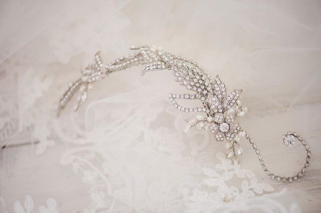 Here's a little sparkle to start off your week 💎 . . . #details #engaged #wedding #bride #groom #bling #earrings #dress #bridalfinery #bridalfashion #veil #weddinginspo #lifeisinthedetails #events #custom #design #accessories #flowers #weddingseason #spring  #newport #rhodeisland #rhodeislandwedding #newportwedding #bridal #headpiece #weddingdress