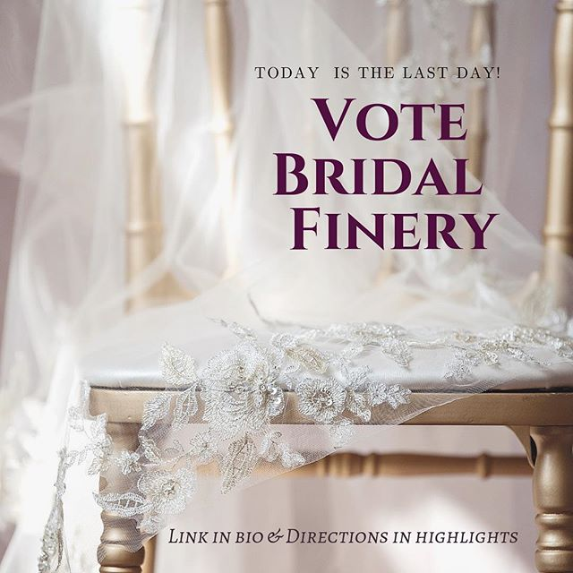 VOTING CLOSES AT MIDNIGHT!  Tell you friends!  Thank you to those who have already voted ♥️ . . 📷 @ludwigphotography . #details #engaged #wedding #bride #groom #bling #earrings #dress #bridalfinery #bridalfashion #veil #weddinginspo #lifeisinthedetails #events #custom #design #accessories #flowers #weddingseason #spring  #newport #rhodeisland #rhodeislandwedding #newportwedding #bridal #headpiece #weddingdress