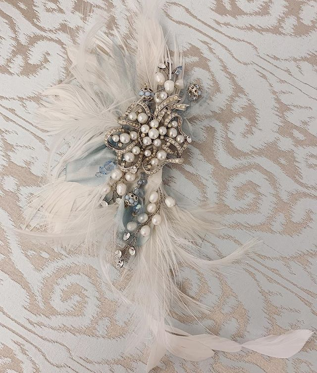 Fascinating Fascinators for the Derby and Beyond! 🐎 . Custom headpiece by @bridalfinery . . #details #engaged #wedding #bride #groom #bling #kentuckyderby #derby #bridalfinery #bridalfashion #veil #weddinginspo #lifeisinthedetails #events #custom #design #accessories #flowers #weddingseason #spring  #newport #rhodeisland #rhodeislandwedding #newportwedding #bridal #headpiece #weddingdress