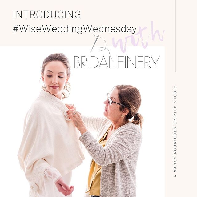 #wiseweddingwednesday 👰🏼 🤵🏼 Find all of Nancy's wedding tips and tricks every Wednesday evening featured on our story. Stay Tuned for the series #TIP debut tonight! DM us questions you would like to see answered too!