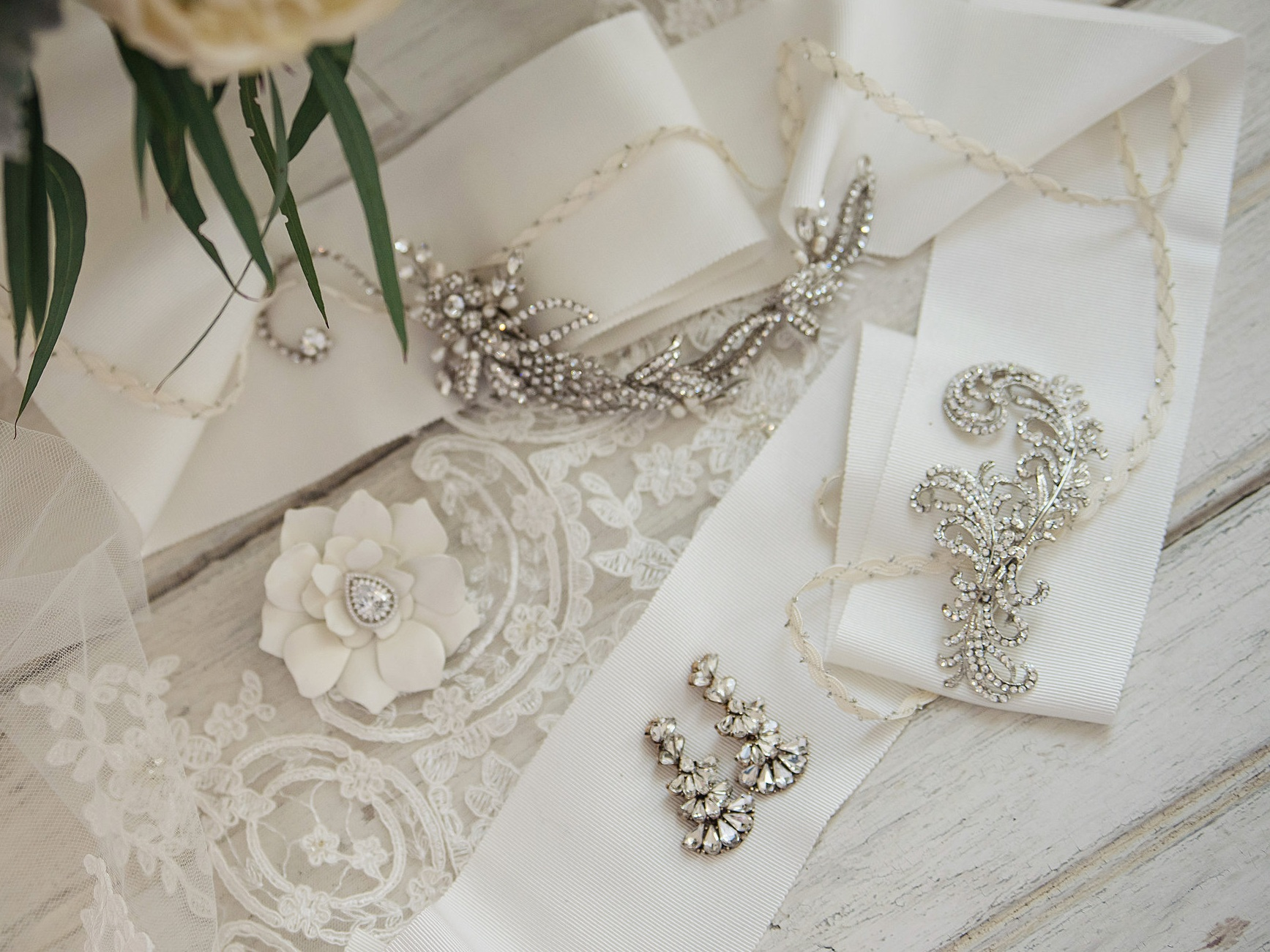 Accessories - My designs are inspired by you. Bridal Finery is delighted to fulfill your vision for an exquisite hairpiece, delicate veil, warming wrap, jewelry, or pashminas for your wedding party or guests.Whether you're seeking classic elegance, incorporating traditional elements that elude a timeless quality, are a free spirited bride, or prefer a more modern edge, my goal is for each of my brides to sparkle and shine in her own way.