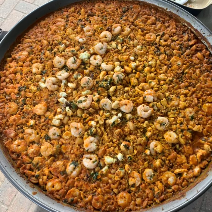 Arroz a banda is one of the most popular paella recipes - and we adore it. It's like biting into the sea!