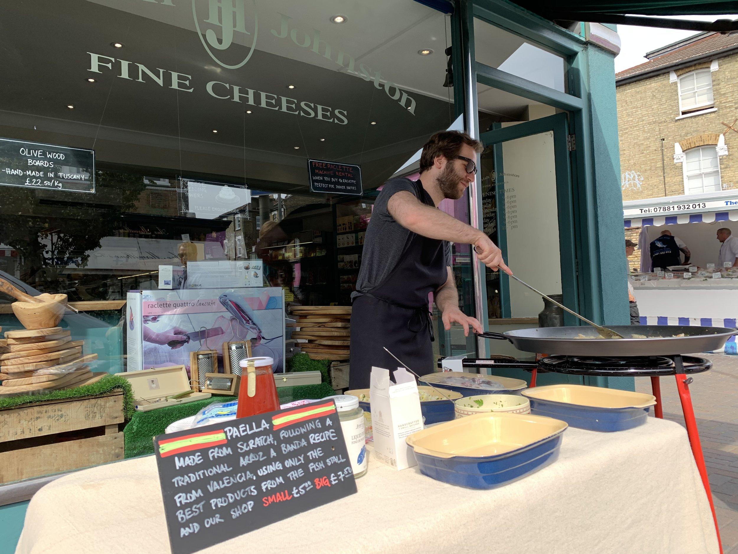 Local paella snob, cheese aficionado and yours truly, Dani