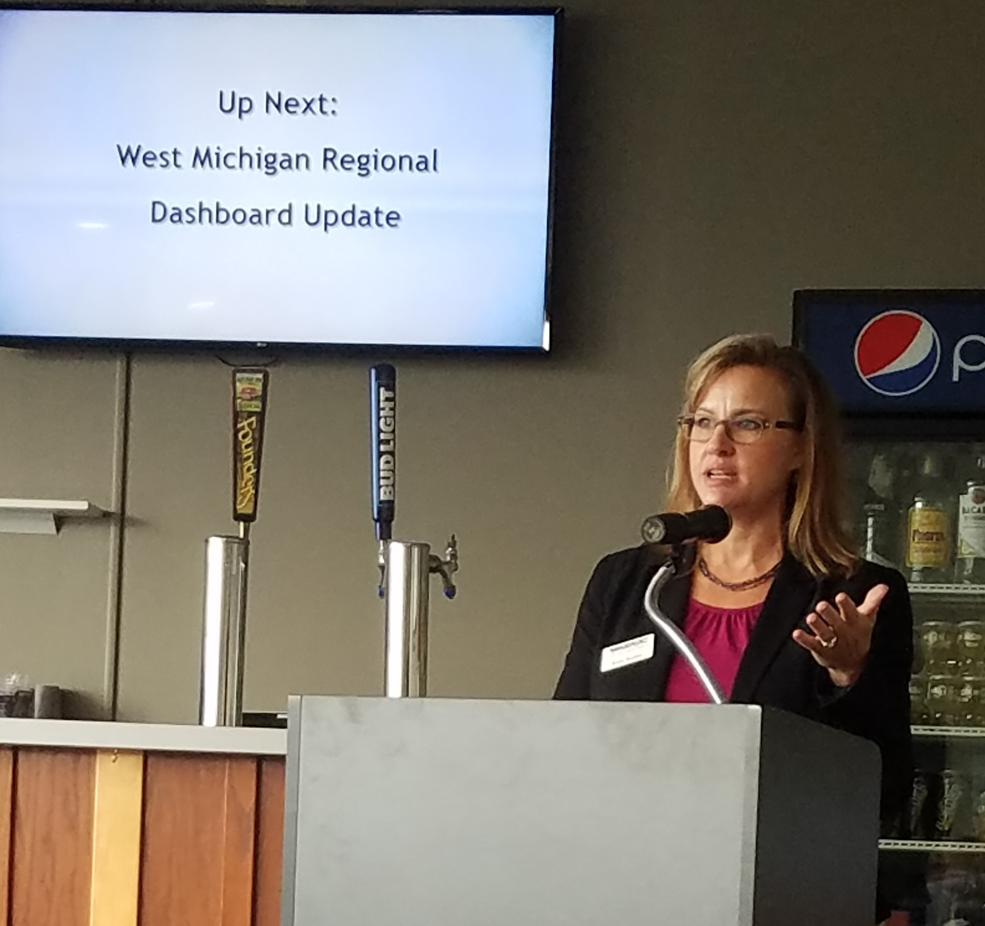 Chair of WMPA, Erin Kuhn, Executive Director of West Michigan Shoreline Regional Development Commission (WMSRDC)