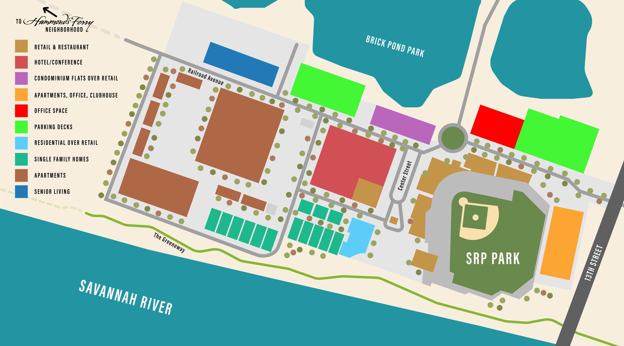 Riverside Village site map