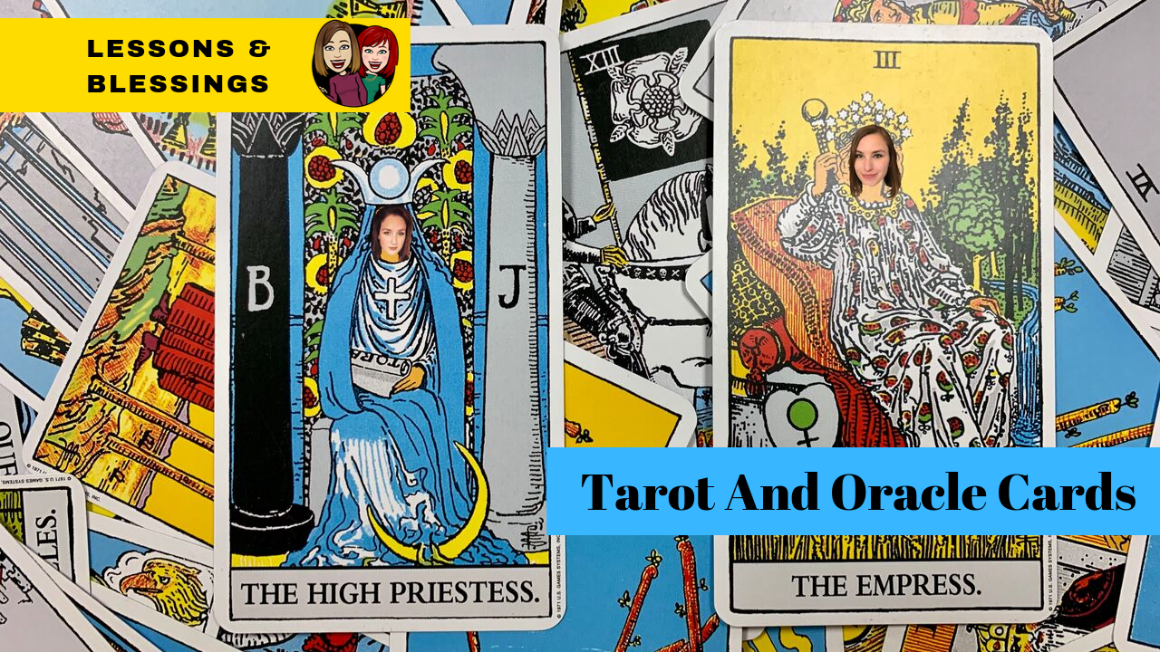 Watch our discussion - Visit our YouTube vlog channel for a fun video discussing Tarot and Oracle Cards