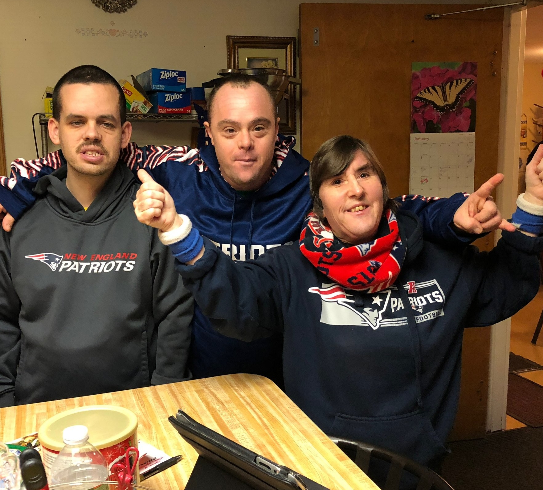Go Patriots!! Getting psyched for the game.
