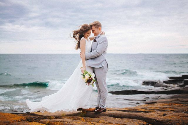 Anita and Chris had their first look on the edge of Lake Superior against the crashing waves