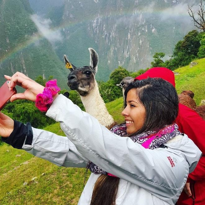 Selfie with Llama--Cute -