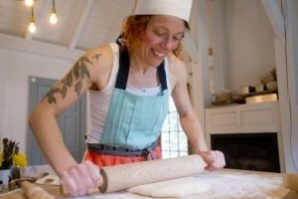 Brot Bakery - Heike grew up in Germany, and fell in love with hearty whole grain breads, seeking out the best loaves from artisan bakers in her area, eventually apprenticing at Biodynamic bakeries in Berlin. Today, she is that baker discriminating eaters seek out! Heike bakes all of her traditional German loaves by hand using her own levain made from freshly milled organic whole wheat, rye and spelt flours. The loaves are slow fermented, baked in her wood-fired oven in her farmhouse in Fairfax, and delivered twice weekly, with her pastries being delivered only one day a week. Heike's devotion to flour, salt, water and yeast are second only to the passion you can taste in her incredible loaves made in the good, clean & fair tradition of Slow Food. Heike holds many classes a year sharing her technique with eager students. We are so proud to have her be a part of the Snail of Approval family!