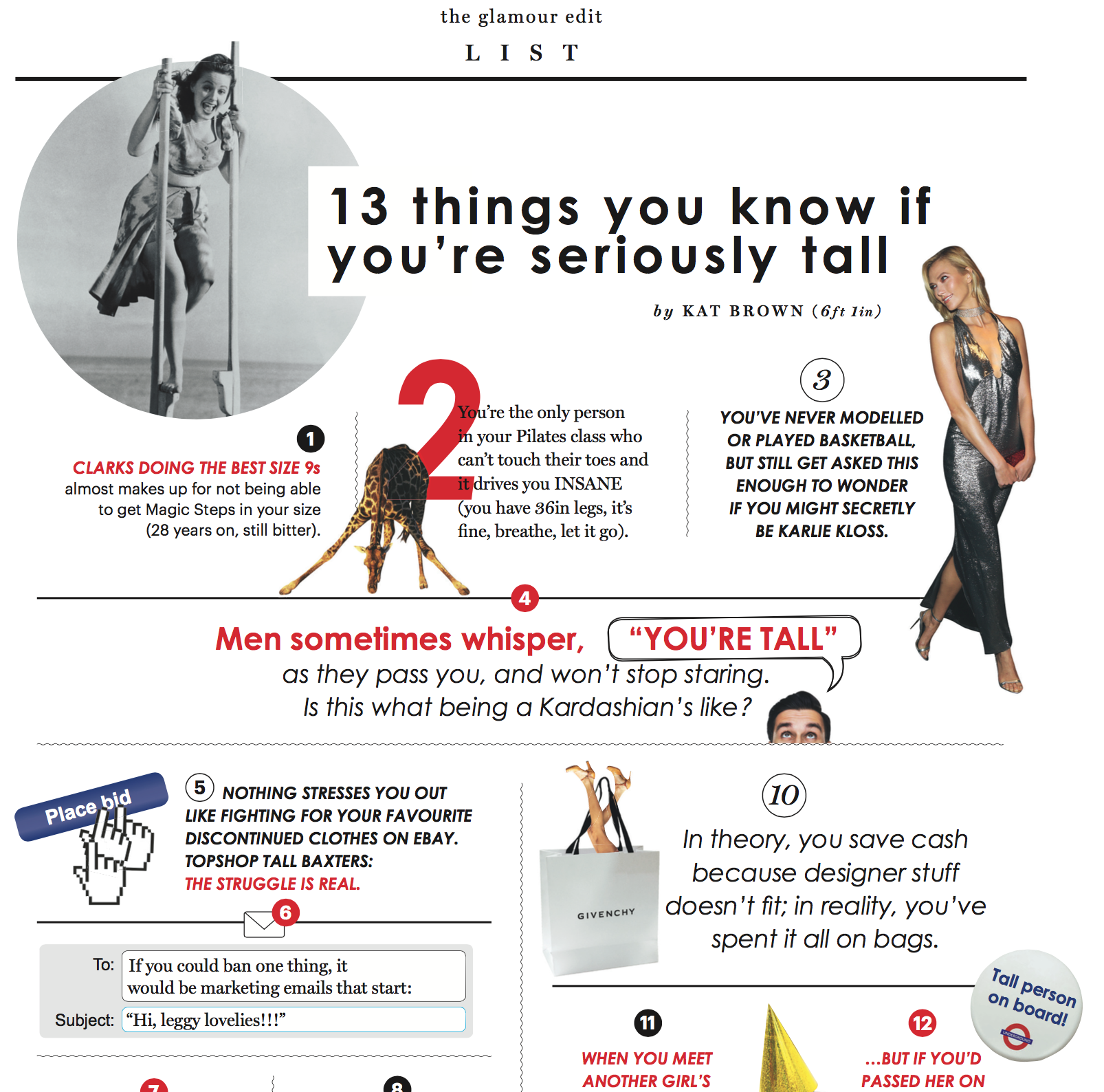 13 things you know if you're seriously tall - GLAMOUR