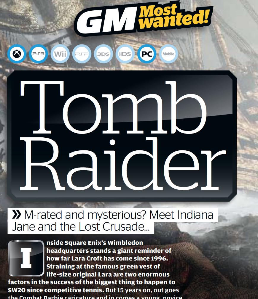 Tomb Raider rebooted (GamesMaster)