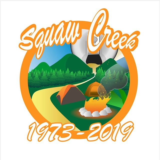 Had fun making this T-Shirt graphic for my friend @mlmickey23 and her annual Squaw Creek camping trip!