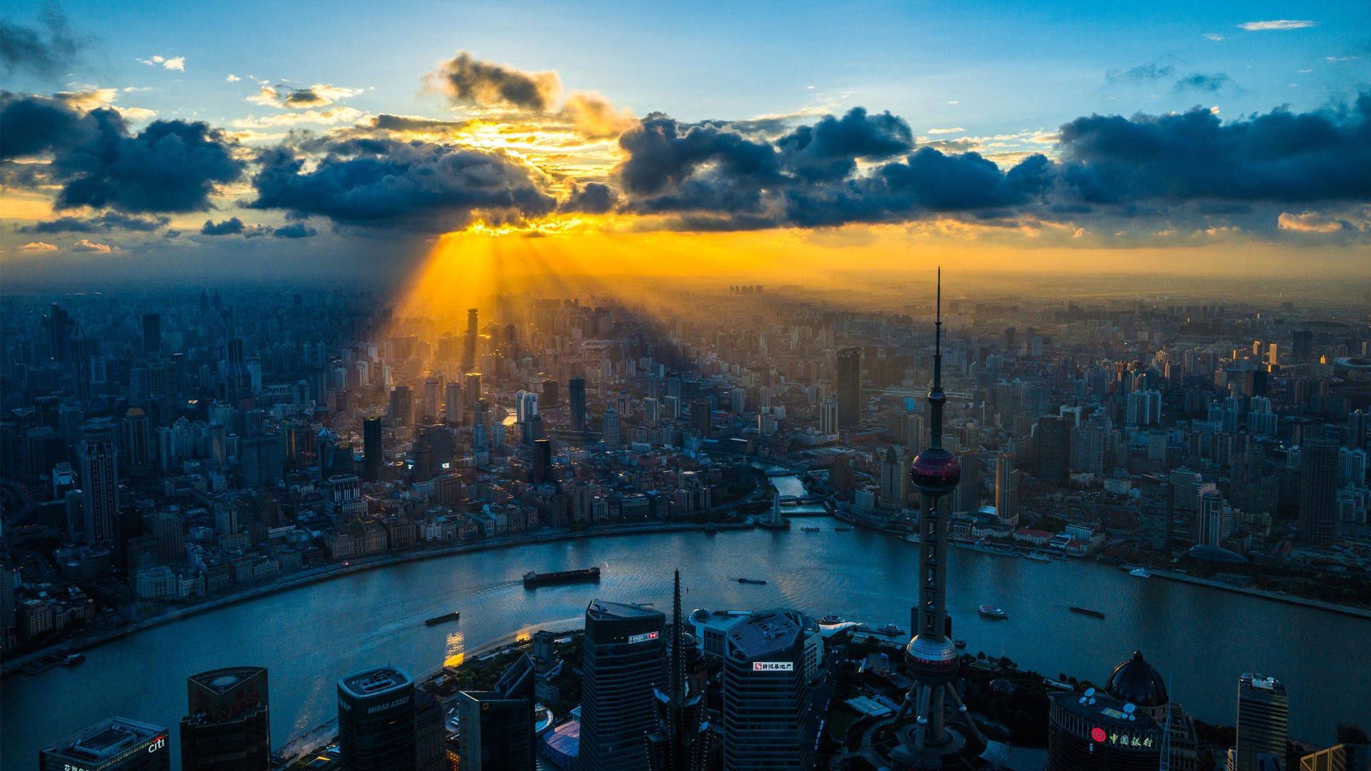 shanghai sunset china widescreen hd wallpaper.jpg