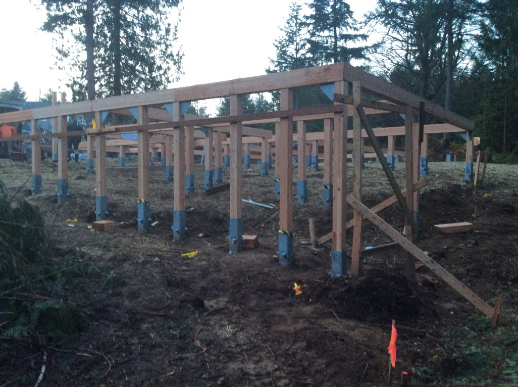 Foundation Frame is ideal for sloped lots…
