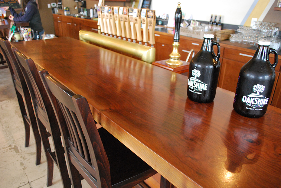 Custom restaurant tables and live edge bar tops