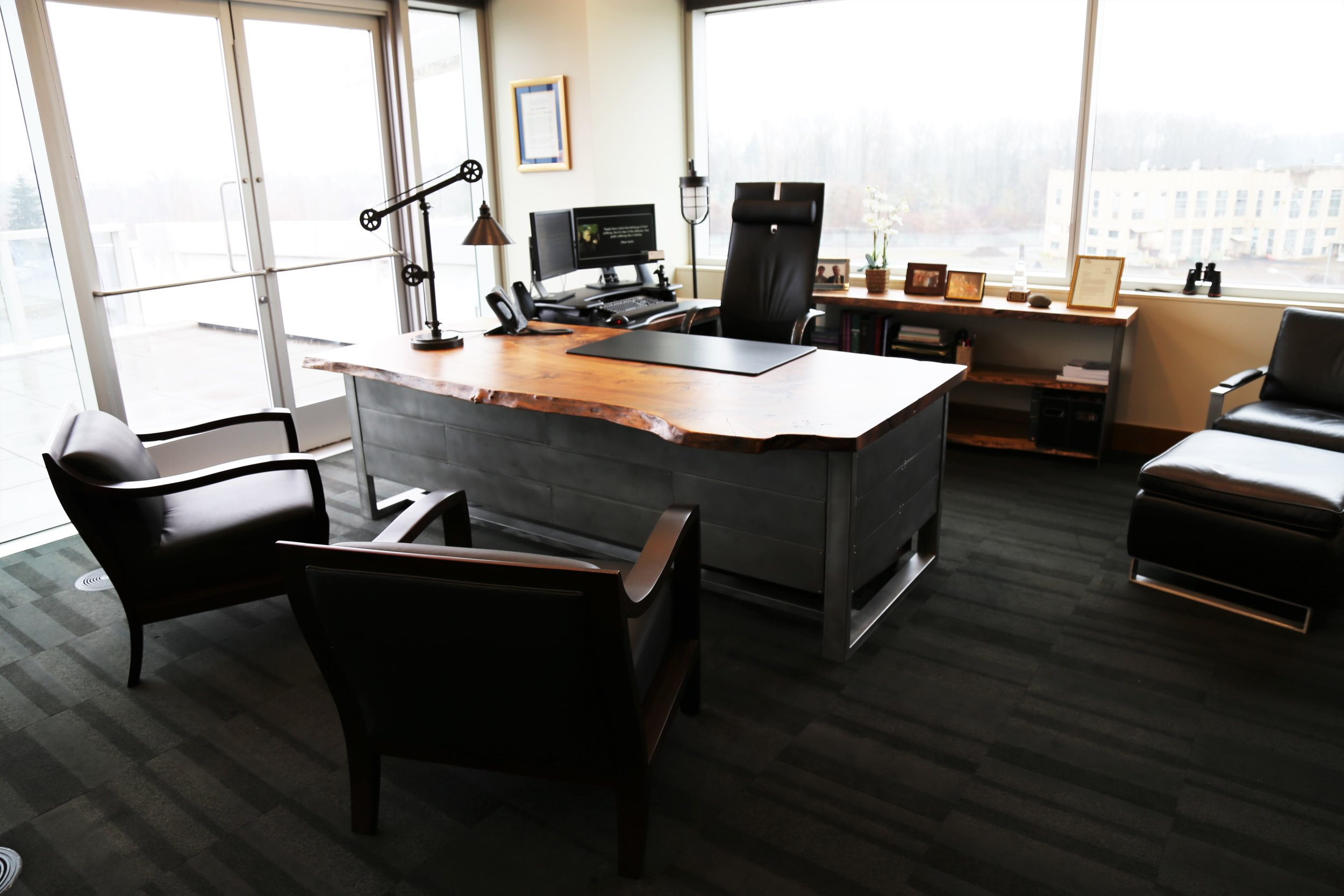Walnut Custom conference table, desk, and office furniture
