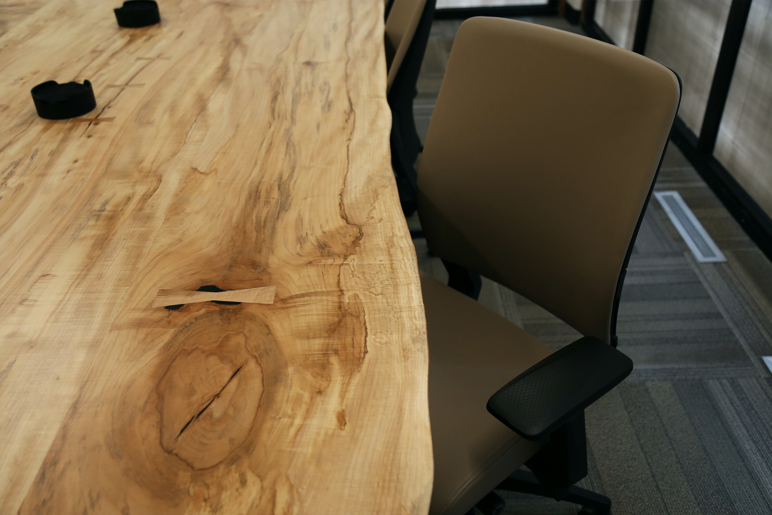 Live edge Maple custom conference table