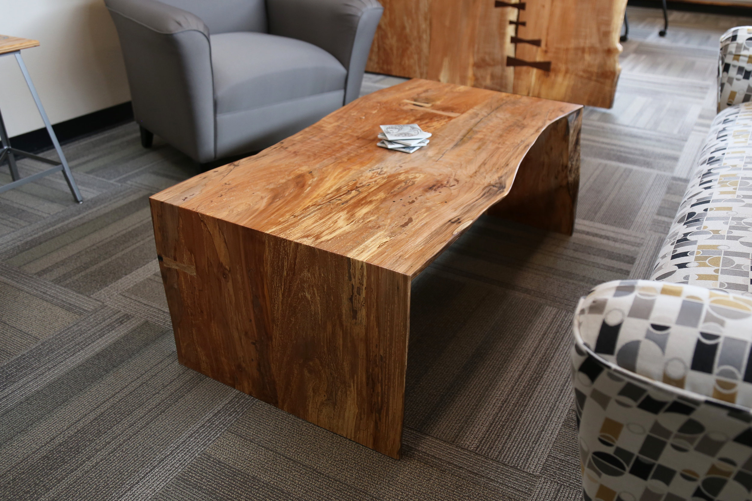 Live edge custom office furniture