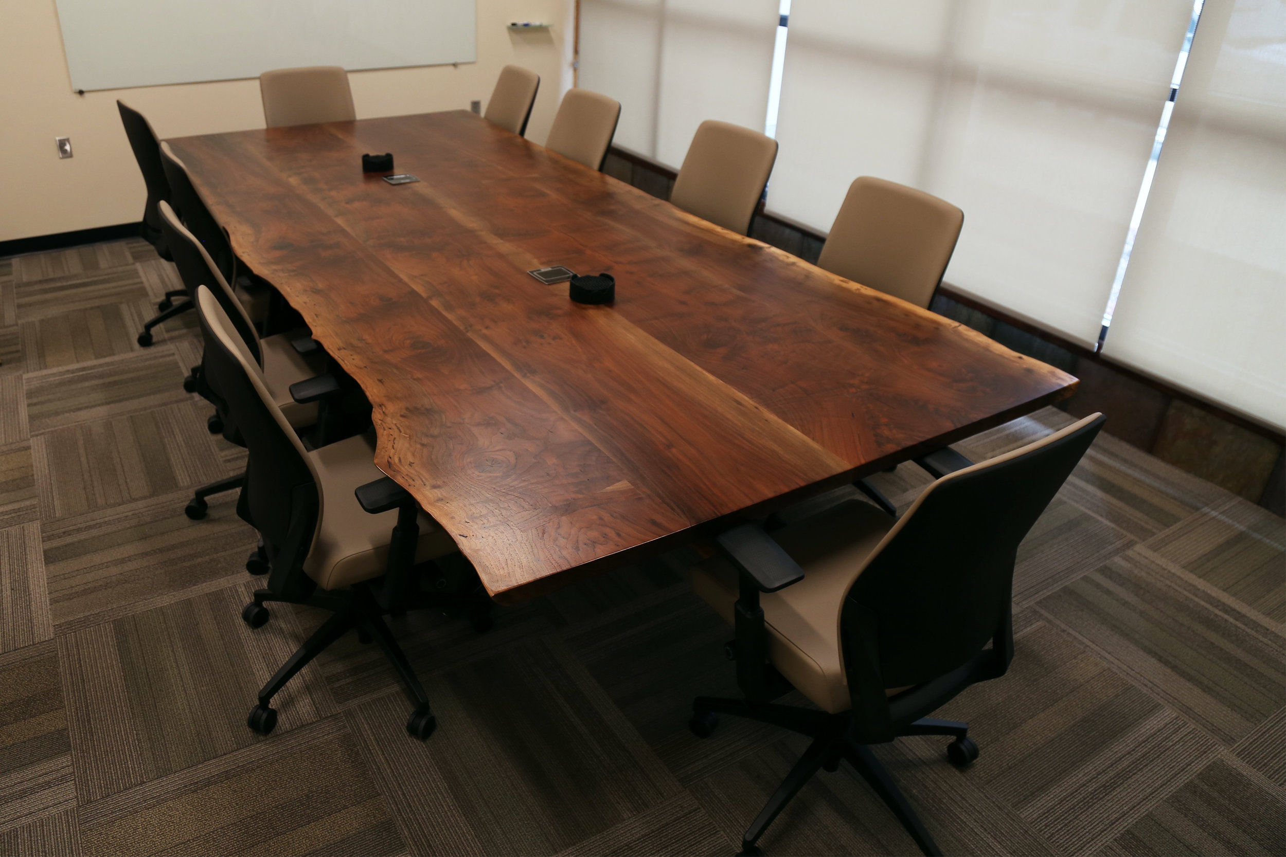 Live edge Walnut custom conference table