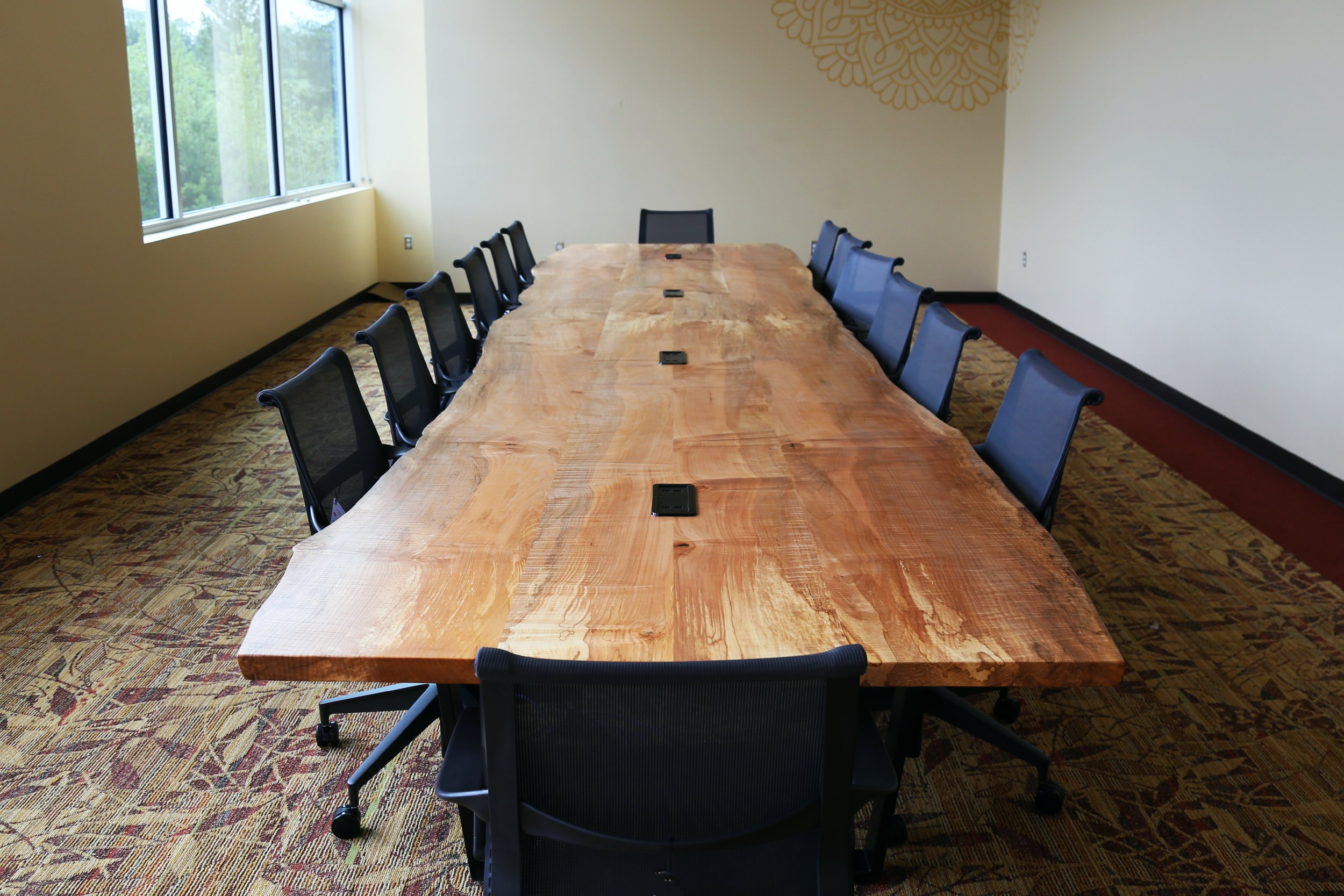 Custom conference table, desk, and office furniture