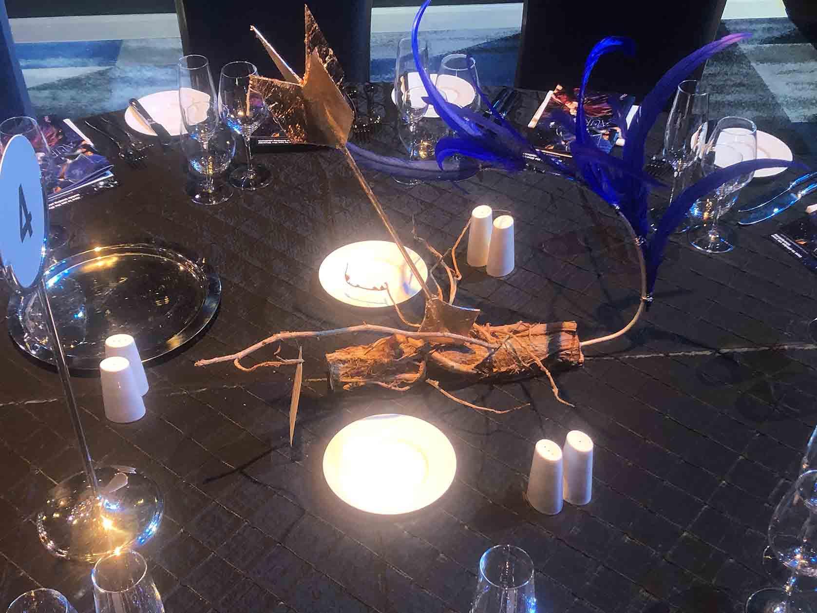 Gold Arrow on table
