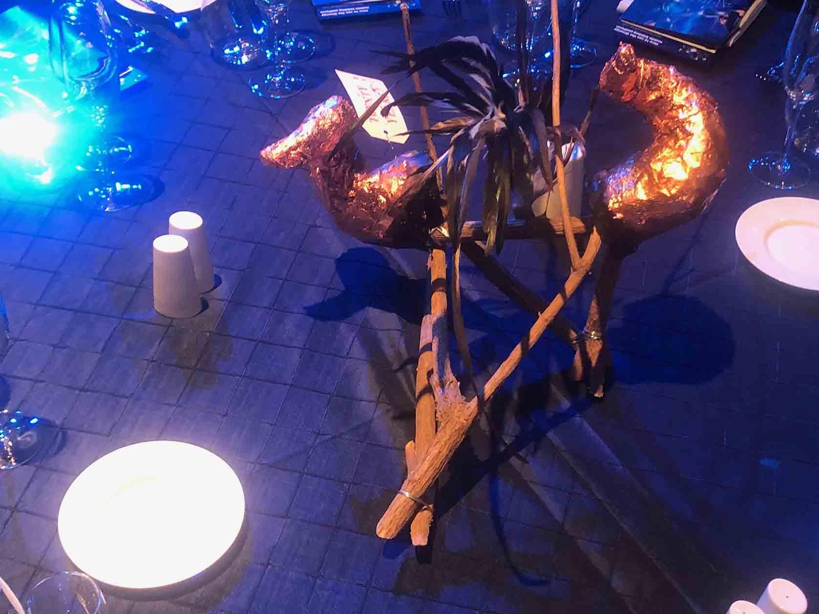 Copper Horned Beast on table