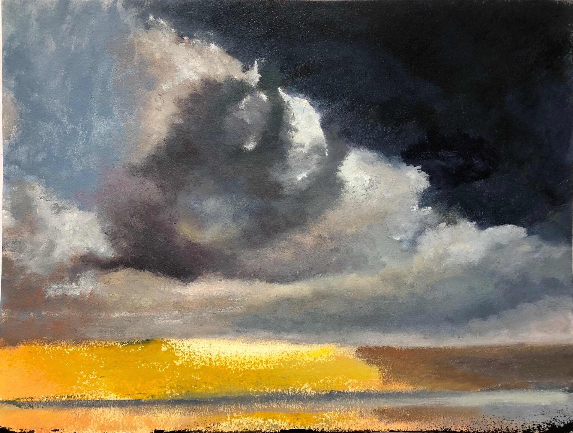 A Wash of Light, oil on oil paper, 16x12