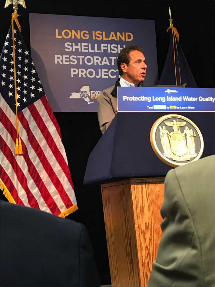 Governor Cuomo announces the LI Shellfish Restoration Project