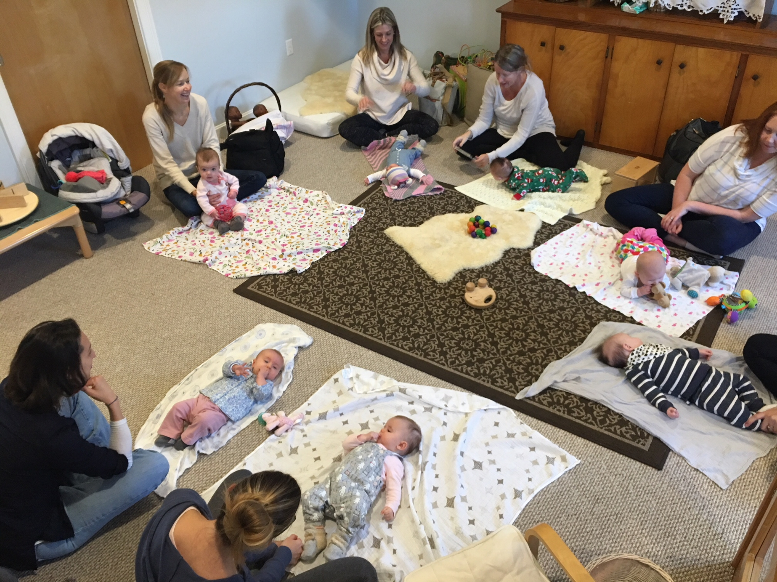 BIRTH - 12 MONTHS: BABY PLAYTIME - As your baby explores our ever-shifting sensory materials curated just for infants, meet other moms and discuss the early days of parenting. This FREE class is co-sponsored by Greater Newburyport Mothers & Families Club. Drop-in. Mondays10:45am-Noon