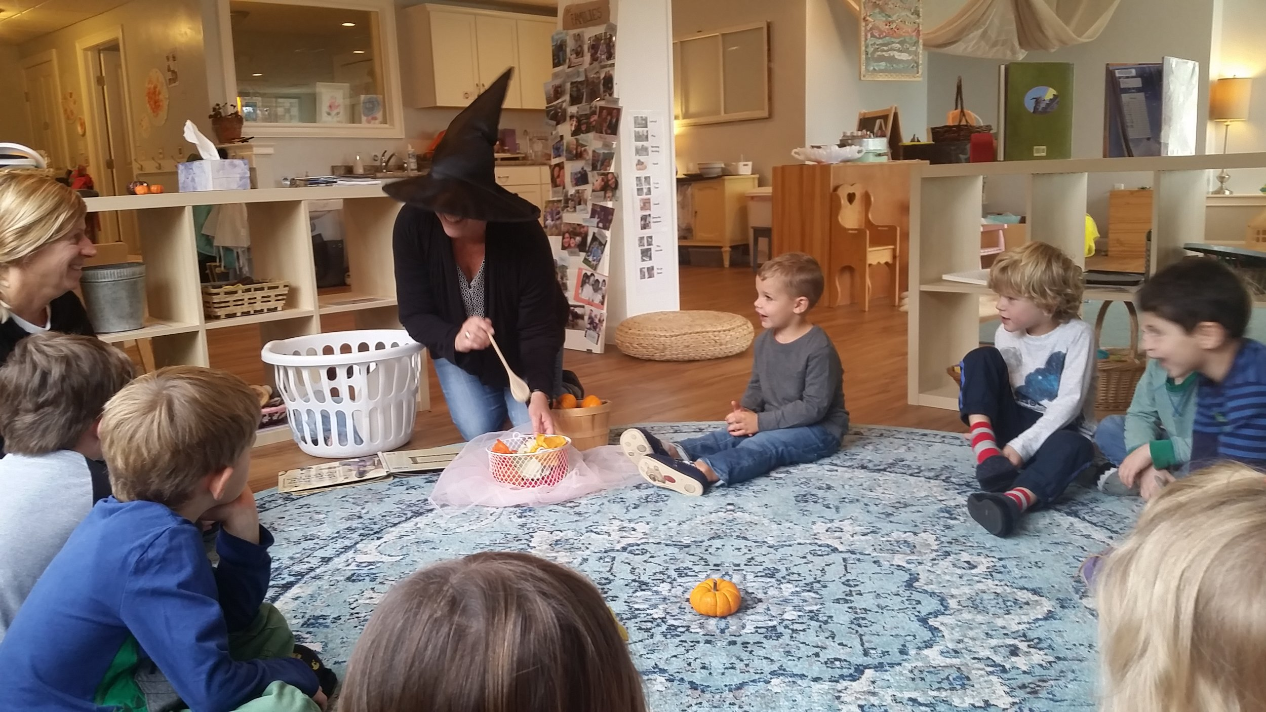 Miss Amy Halloween Story Circle Harmony Natural Learning Center.jpg