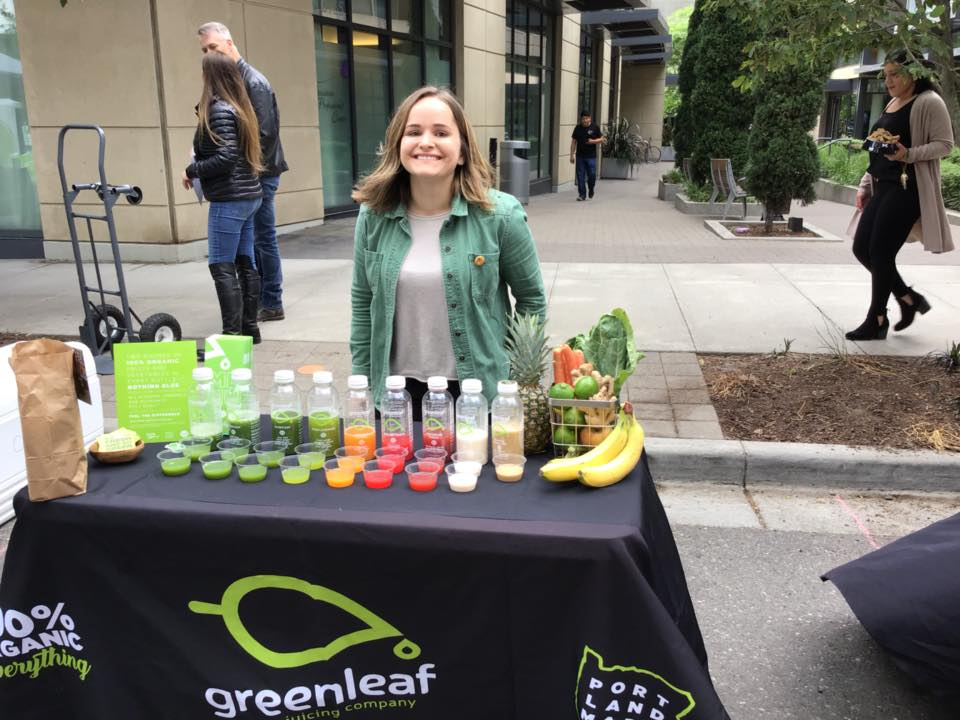 Greenleaf Juicing Company offered many tasty samples of their craft cold-pressed juices to attendees.