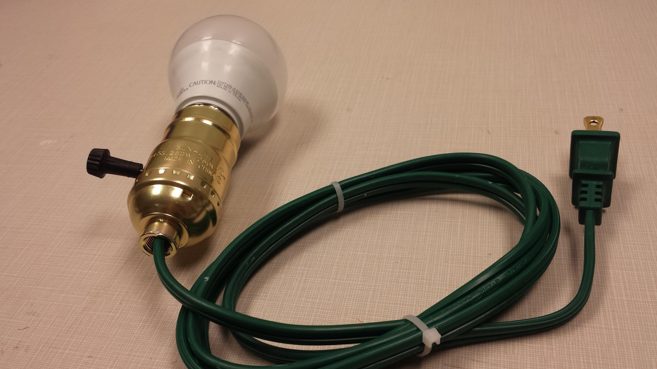 My first completed lightbulb!