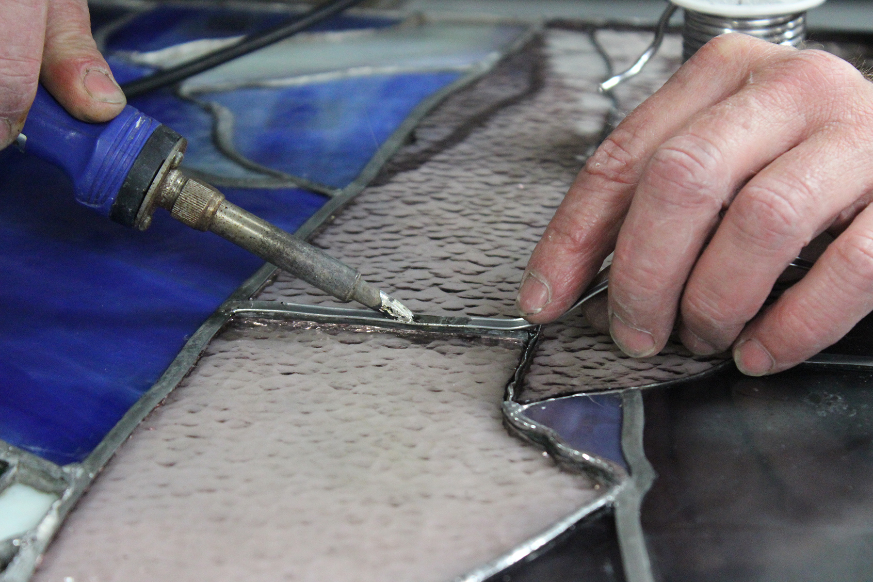 Different methods of soldering are required after assembly of cleaned glass.