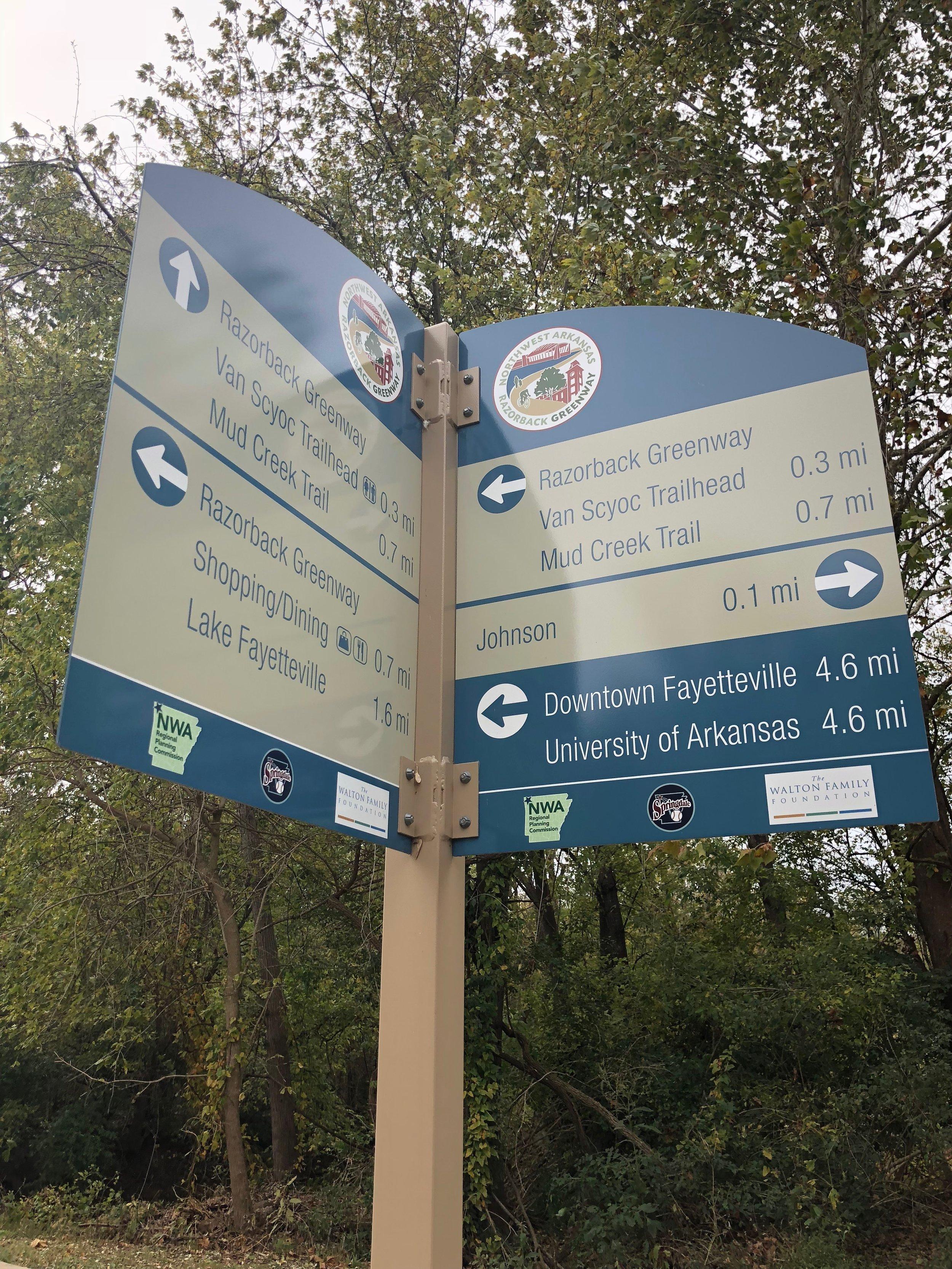 Detailed wayfinding signs; the stuff of trekker dreams
