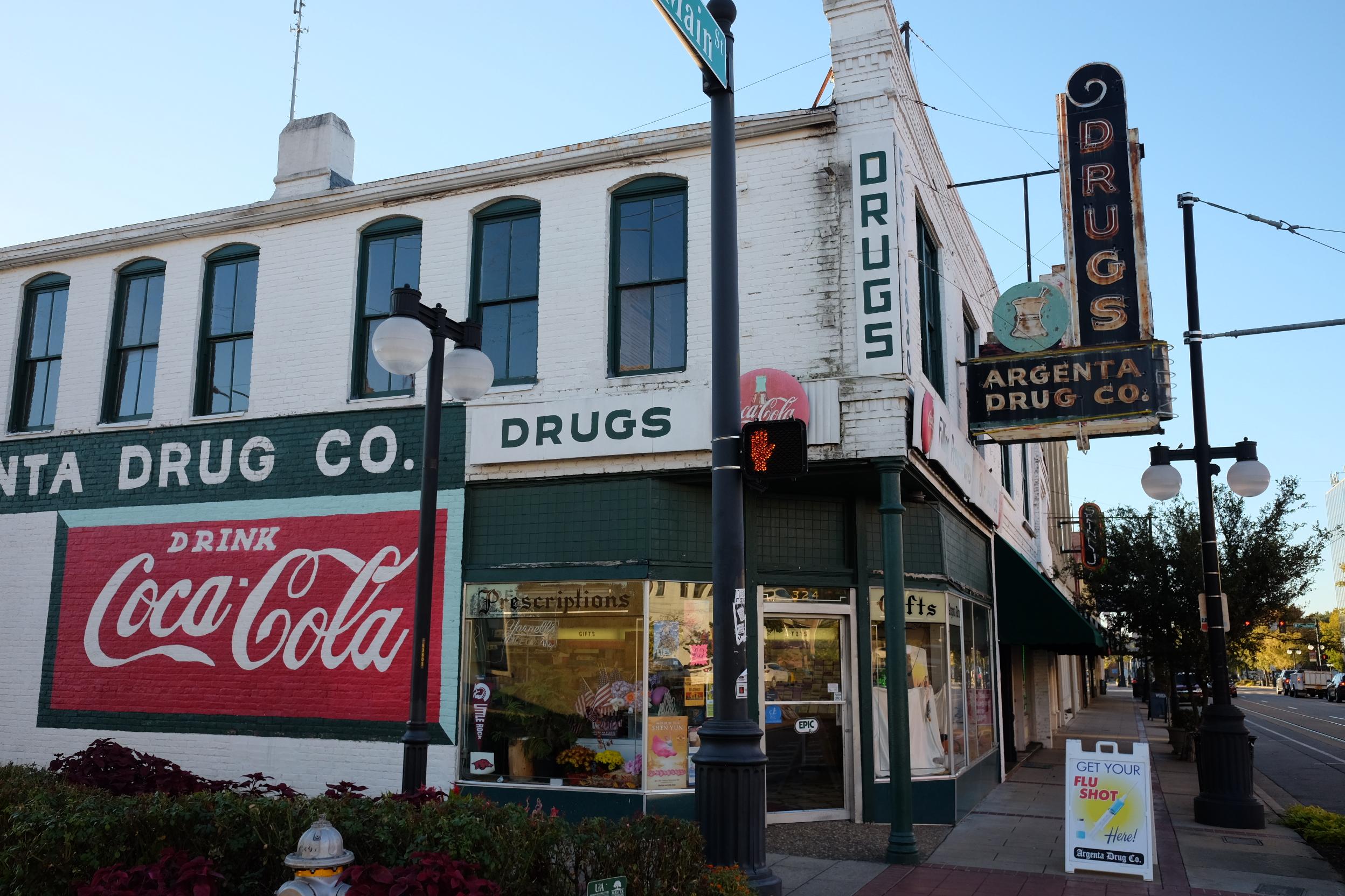 Argenta Drug Co. opened in 1882