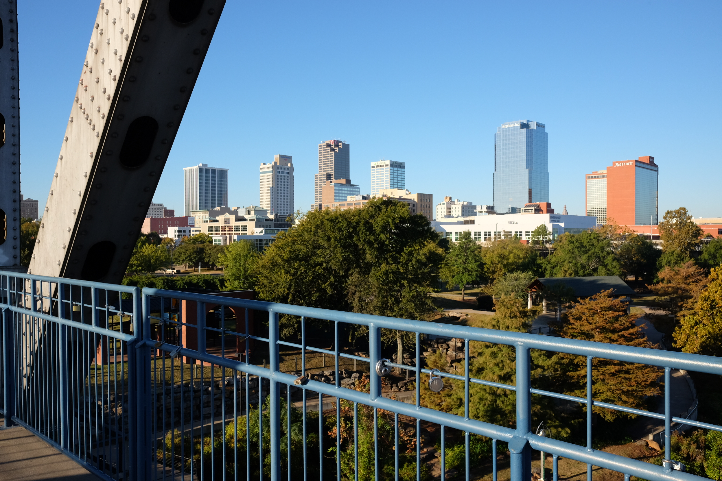 Downtown Little Rock view from Junction Bridge