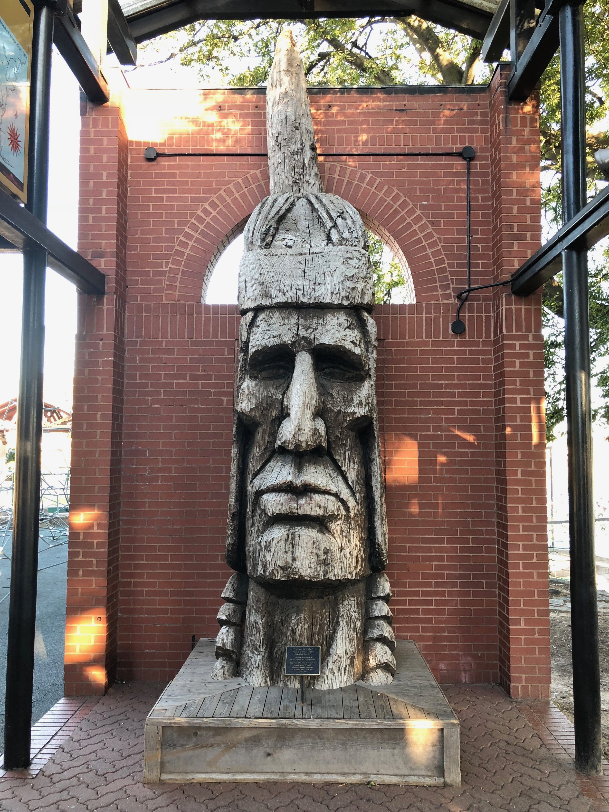Indian Head carved by Peter Toth