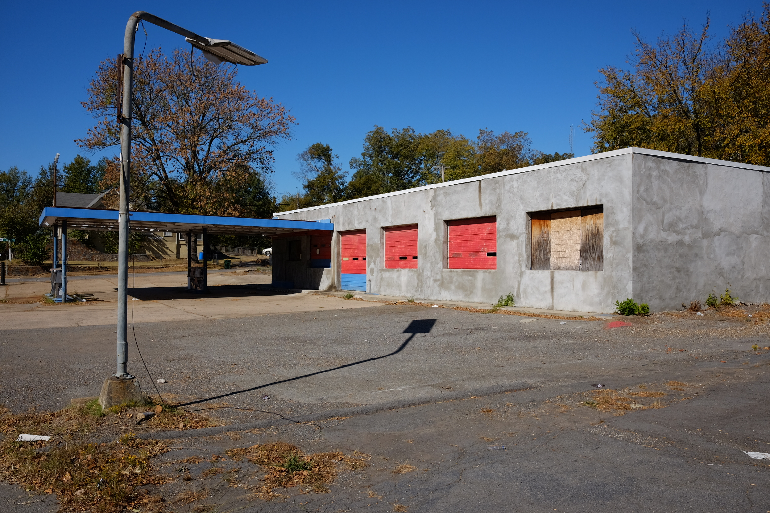 Long abandoned gas station West 12th Street