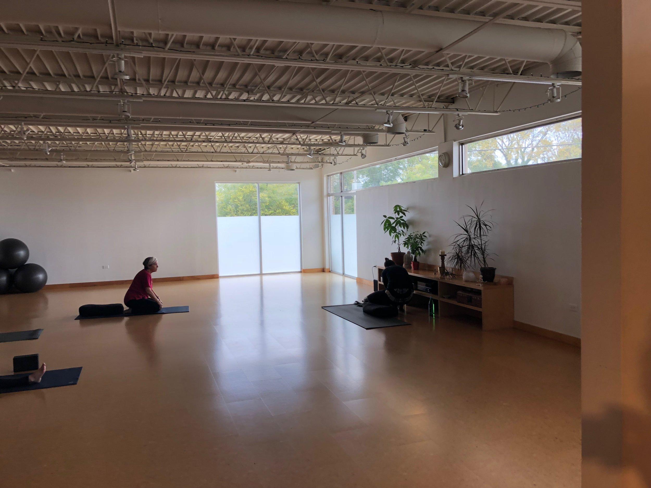 Studio space at Arkansas Yoga Collective