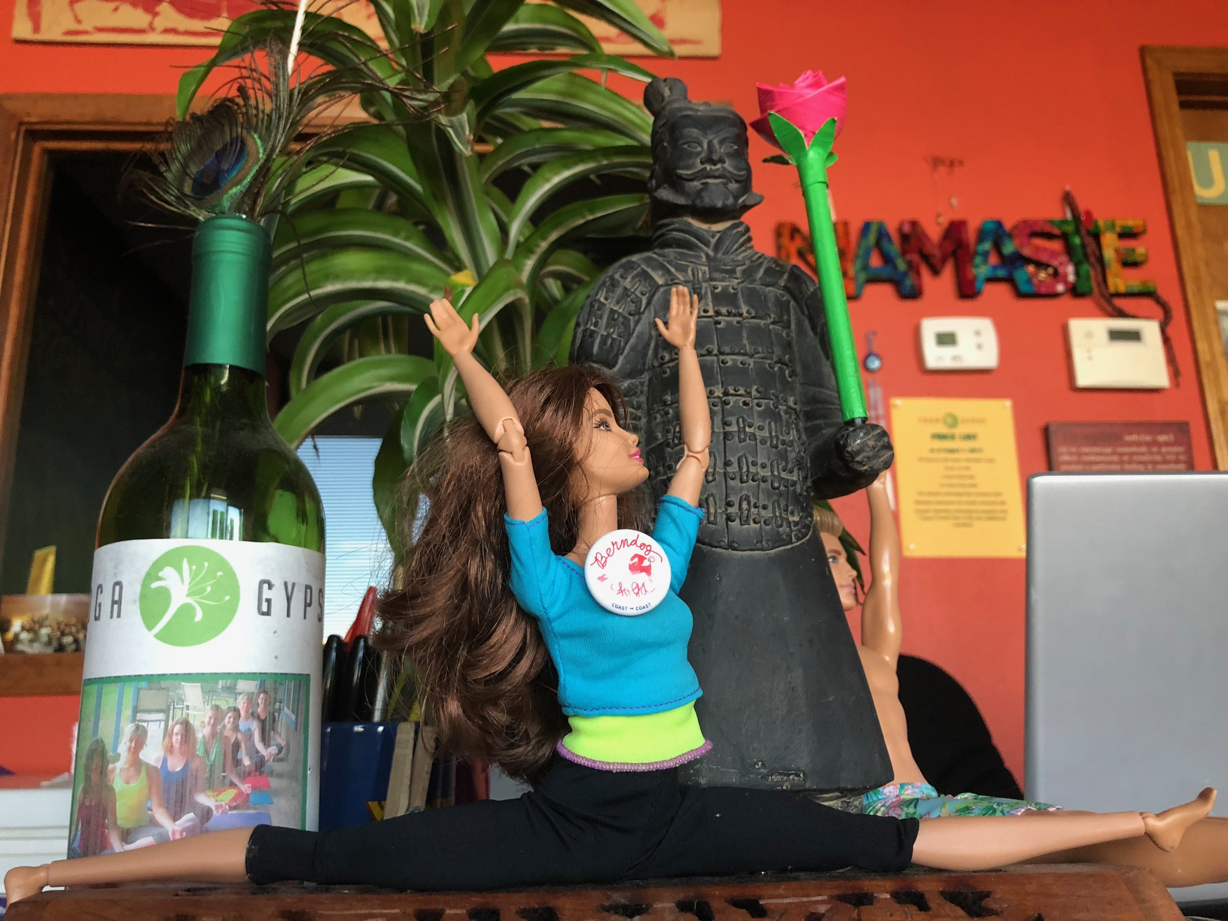 Adorable action figures at Yoga Gypsy in Springdale