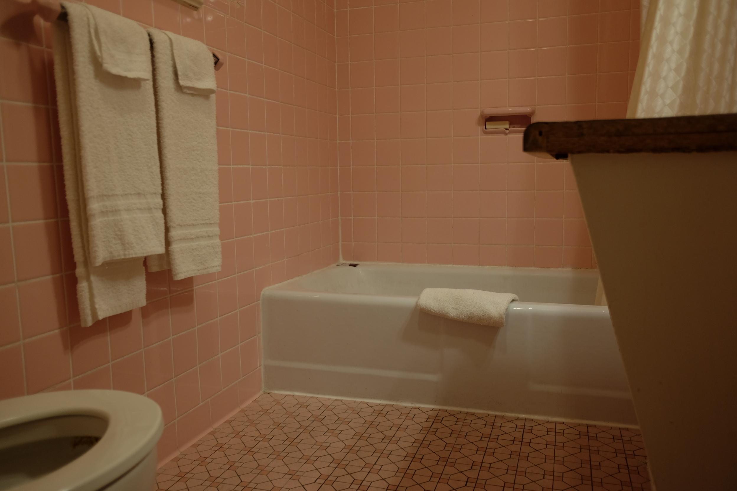 Bathroom at Family Budget Inn Harrison